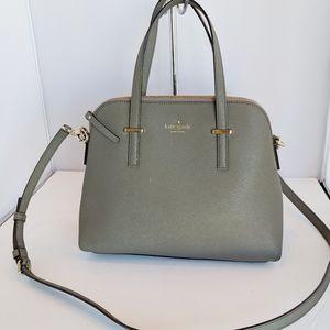 Kate Spade Small Maise Grey Satchel bag Purse